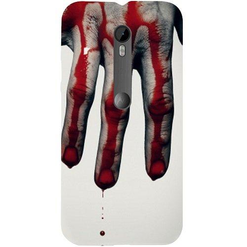 Casotec Hand Blood Brush Scary Design Hard Back Case Cover for Motorola Moto G 3rd Generation