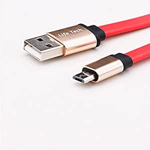 For LG Tone HBS-700 / Tone+ HBS-730 / Tone Pro HBS-750 / Tone Pro HBS-760 / Tone Ultra HBS-800 / Tone Ultra HBS-810 Bluetooth Tangle-Free USB 2.0 Data / Charger Cable Cord (Red)
