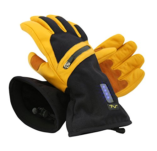 Volt Heated Work Gloves - Leather Work Gloves - Rechargeable battery heated gloves that will help keep your hands warm while you work in cold conditions. by Volt (Image #2)