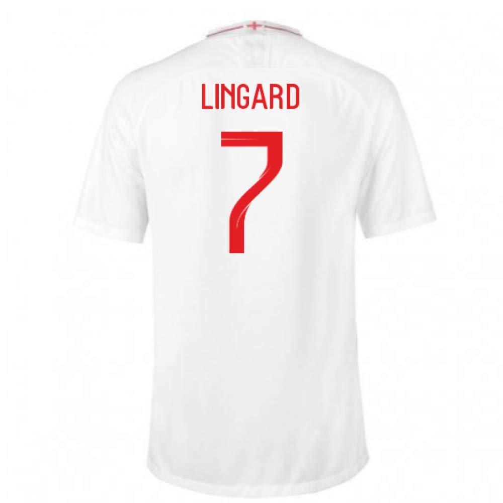 2018-2019 England Home Nike Football Soccer T-Shirt Trikot (Jesse Lingard 7)