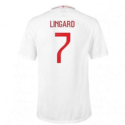 huge selection of 06151 18287 Amazon.com : 2018-2019 England Home Nike Football Soccer T ...