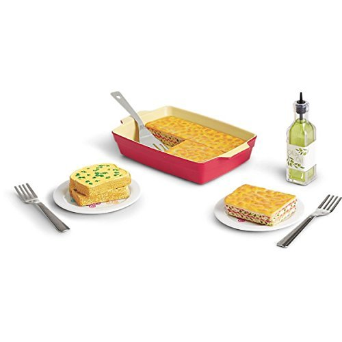 Lasagna Dinner - American Girl Truly Me Lasagne Dinner Set for 18