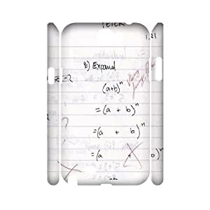 3D Samsung Galaxy Note 2 Cases Funny Math Problem, Vety, [White]