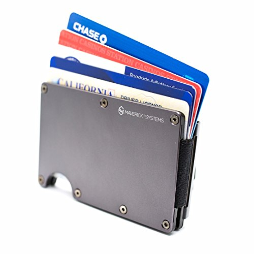 RFID-Blocking Slim Minimalist Card Holder /Travel Wallet For Credit Cards & More (Gun Metal)