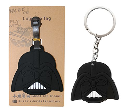 AmebaConcept Star Wars Darth Vader Force Luggage Tags Travel Tag Anakin Keychain Toy (Cheap Princess Leia Slave Costume)
