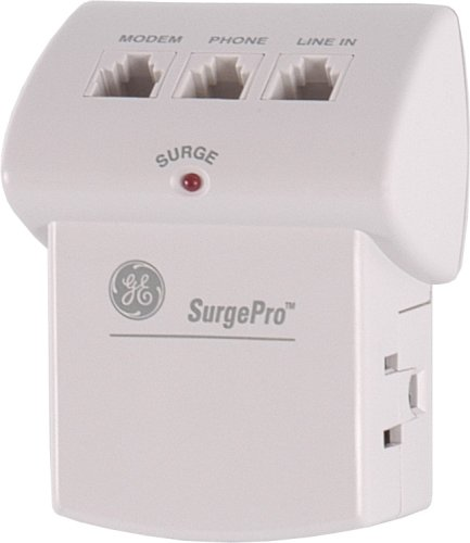 GE 55294 312J 2-Outlet 2 Phone/Fax/Modem Surge Protector (Discontinued by Manufacturer) (Fax Protection Modem Surge)