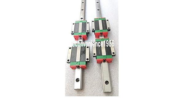 2 sets HGR25-1000mm Hiwin Linear rail /& 4 pcs HGW25CC Block Bearing