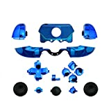 YTTL®Chrome Blue ABXY Dpad Triggers Full Buttons Set Kits Controller Mod for Newest Xbox One Controller (3.5mm Port) with Screwdriver (Torx T6 T8) Set -