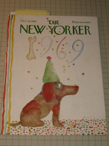 Dec.28,1968 The New Yorker: L. Woiwode - Isaac Bashevis Singer - L.E.Sissman - Red Norvo (Vibraharp)