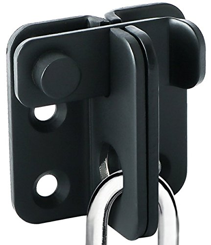(Alise Gate Latches Slide Bolt Latch Safety Door Lock 55x45mm,MS3001-B Stainless Steel Matte Black)
