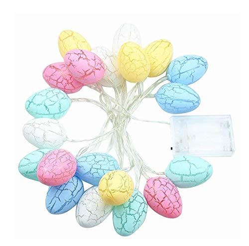 Astra Gourmet 20 Easter Eggs LED String Lights Battery Operated Fairy String Lights Easter Decorations for Home Easter Tree Upstairs Banister Party 10ft (Astra Light Table)