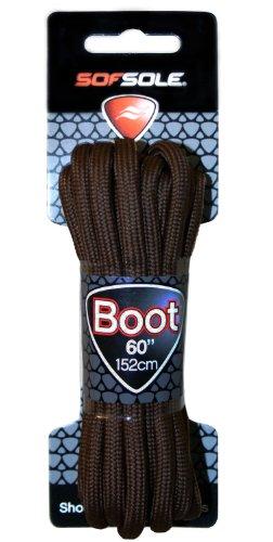 Sof Sole Round Boot Laces (Dark Brown, 60-Inch)