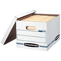 Bankers Box STOR /FILE Cajas de almacenamiento, configuración estándar, tapa de levantamiento, tamaño carta /legal, paquete de 6 (57036-04)