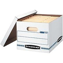 Bankers Box STOR/FILE Storage Boxes, Standard Set-Up, Lift-Off Lid, Letter/Legal, 6 Pack (57036-04)