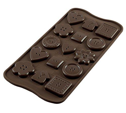 - Silikomart Platinum Easychoc Chocolate Buttons Mold, Brown