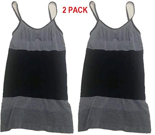 83cbe4e983d3b SKIDOOMARINK 2 Pack Women s Seamless Slimming Long Camisole Shapewear