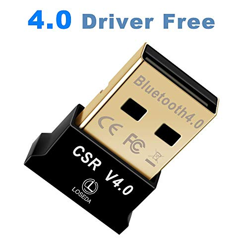LSSEDA Bluetooth USB Adapter, CSR 4.0 Bluetooth Dongle, Wireless Receiver for Laptop PC Support 10/8/7/Vista/XP, Mouse and Keyboard, Headset