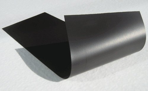 Magnetic Material Sheet 4 x 12-inch  Black Thin & Flexible f