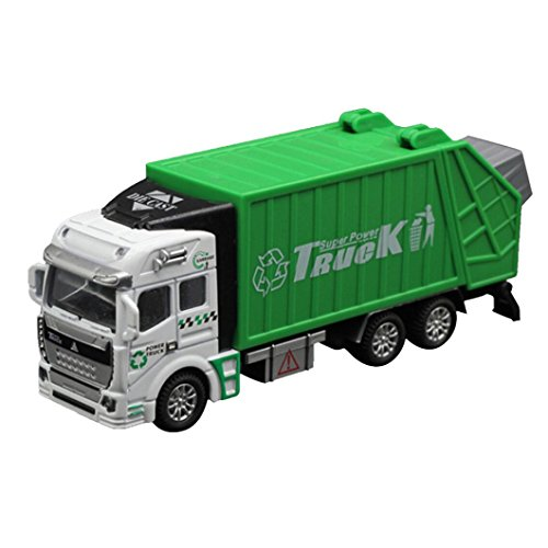 Truck Toys,1:32 Racing Garbage Truck Carrier Vehicle Car Toy➪Laimeng (Green) - Stinky The Garbage Truck Toys