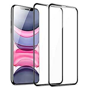 ESR Full-Coverage Tempered-Glass Compatible for iPhone 11 Screen Protector/iPhone XR Screen Protector [2-Pack] [Easy Installation Frame] [3D Curved Edges] for iPhone 11, iPhone XR