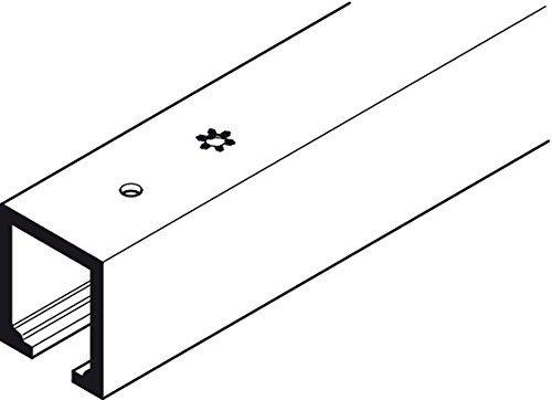 HAWA Junior 80/Z Upper Track, pre-drilled, aluminum, clear anodized finish 7' 2 5/8'' (2,2 m)