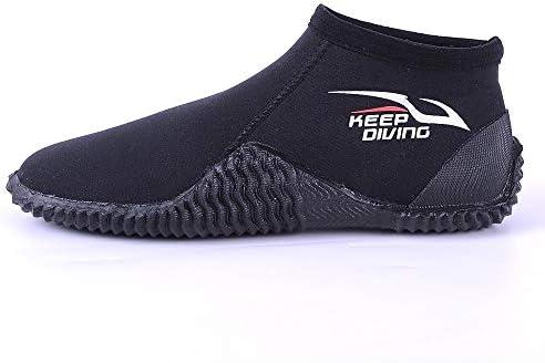 ネオプレン低ダイビングブーツワタリ靴ウォーターシューズビーチ釣り、モーターボートサーフィンウィンドサーフィン4ミリメートル ポータブル (色 : Black, Size : US7.5)