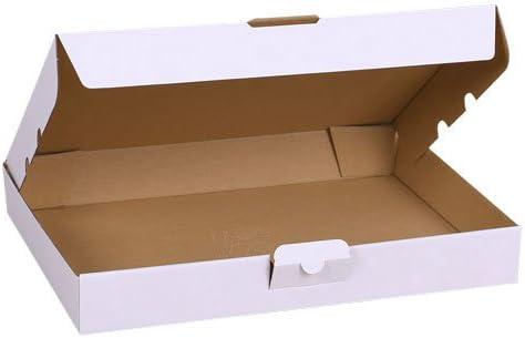 2 cajas de cartón troqueladas blancas 32 x 22,5 x 5 cm para envíos ...