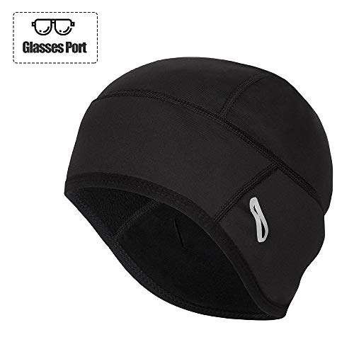 Helmet Liner Fits Glasses Winter Thermal Running Beanie Cycling Caps ()