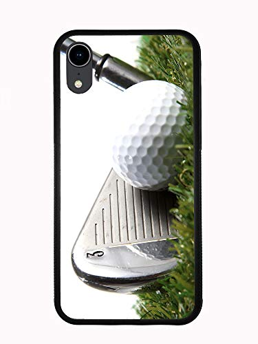 3 Iron Golf Club Hitting Golf Ball for iPhone XR 6.1 2018 Case Cover by Atomic Market