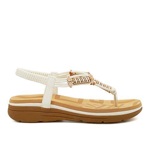 Alla Caviglia Scarpe Donna White Cinturino Footwear Con London P6InwzOqPx
