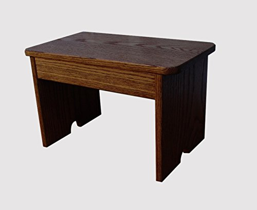 Garage Stool 10'' Tall Maple Stain (Made in the USA)