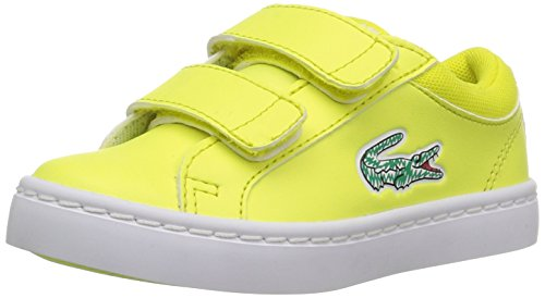 Sneakers Lace Lacoste (Lacoste Kids' STRAIGHTSET LACE 118 2 CAI Lace Sneakers,Fluro Ylw/White synthetic,6. M US Toddler)