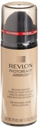 REVLON Photoready Airbrush Mousse Makeup, Natural Beige, 1.4 Ounce