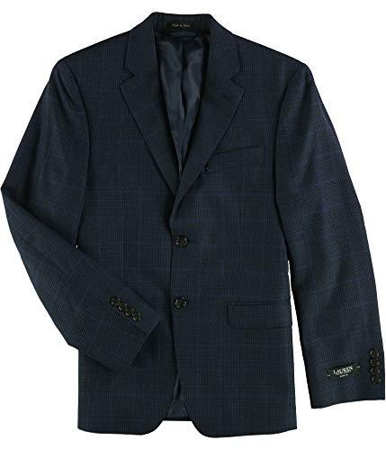 - Ralph Lauren Mens Houndstooth Two Button Blazer Jacket, Blue, 36 Short