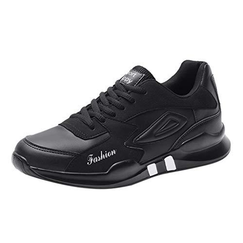 OrchidAmor Men's Casual Lightweight Sport Running Shoes Flats Shoes Sneaker Climbing Shoes Black