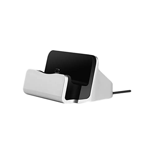 Teléfono Muelle Soporte de Carga Muelle de la estación Base de Carga Base para iPhone X 8 7 6 USB Cable Cargador de la sincronización Base Cuna - ...