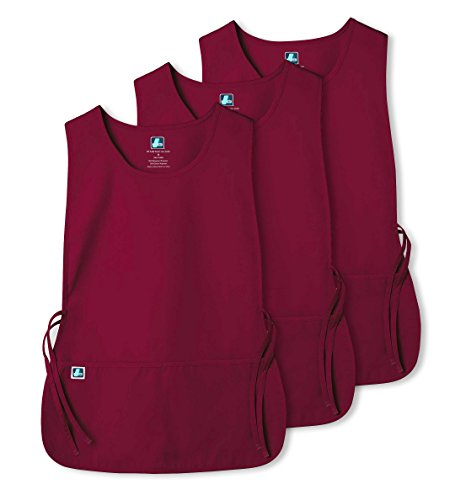 Adar Unisex Cobbler Apron with 2 Pocket / Adjustable Ties (3 Pack) - 7023 - BRG - R (Apron Unisex Cobbler)