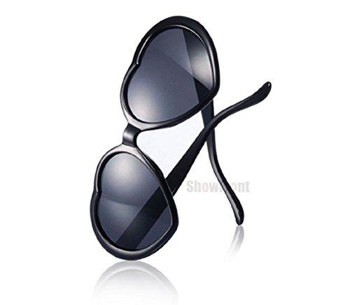 Style Coeur Noir de Lunettes Lolita Uv400 soleil Polarisé Femme 67Ixqfnw