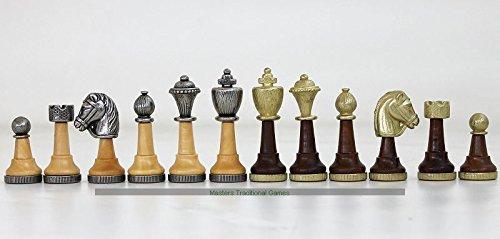 優れた品質 Italfama - Classic Chessmen - Metal and Classic Wood Wood B071K1RPCJ, ベストフォーライフ:776a672e --- arianechie.dominiotemporario.com