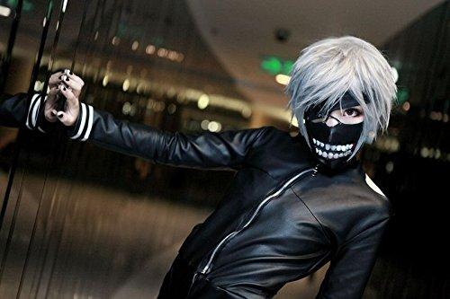 Tokyo - Máscara Ghoul Kaneki Ken Cosplay: Amazon.es: Juguetes y juegos