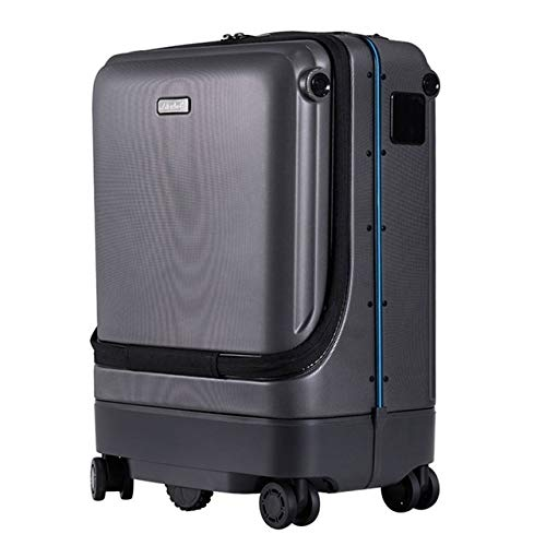 CHEER.COM Electric Smart Suitcase 20 Inches Smart Rolling Luggage App Remote Control Auto Following Following Suitcase…