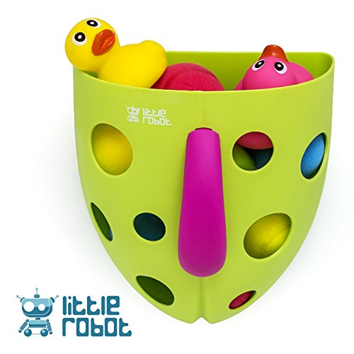 Little Robot Bath Toy Storage NEW DESIGN Extra Strong Suction No Mold