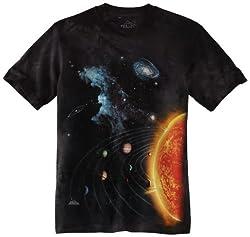 The Mountain Big Boys' Solar System Shirt, Black, Large