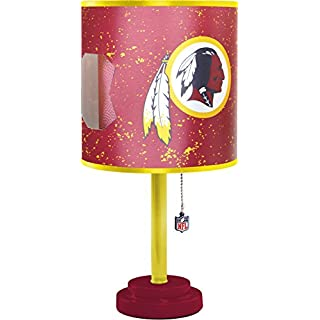 Nfl lamp shade do it yourselfore nfl washington redskins table lamp with die cut lamp shade mozeypictures Image collections