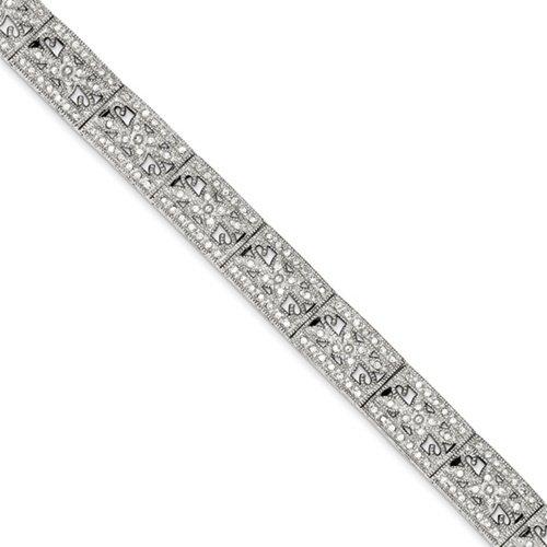 Icecarats Créatrice De Bijoux En Argent Sterling Pavé Cz Bracelet En 7 Pouces