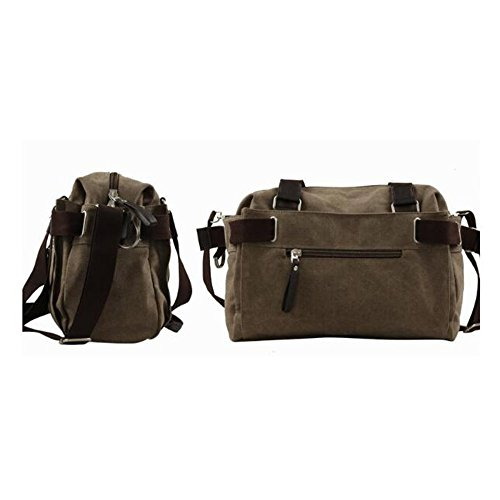 Outdoor Men's Satchel Moving School Trendy Bag Canvas Leisure Hiking Black Shoulder Travel TCnqwRO
