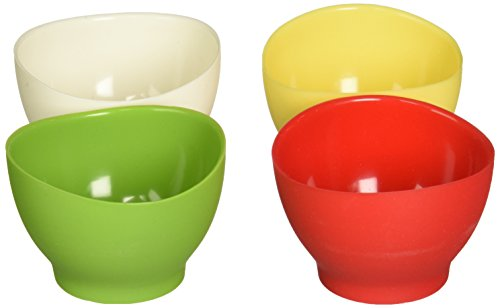 - iSi Basics Flexible Silicone Pinch Bowl, Set Of 4, 1 Each, Red, White, Wasabi, Yellow