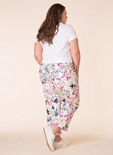 X-Two Yesta Chino Jeans 7/8 Hose große Größen Damen Weiß Grün Leichte Sommer-Hosen Vintage Stretch Damenhose MQrnoxi4Ms