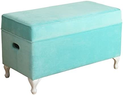 HomePop Diva Youth Velvet Decorative Storage Bench