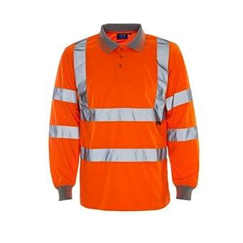 SuperTouch 35e83 Hi Vis de manga larga Polo camiseta, grande, color naranja: Amazon.es: Industria, empresas y ciencia